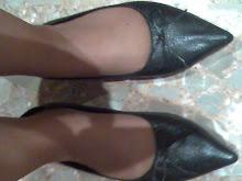 mis zapatos usados de punta de piel