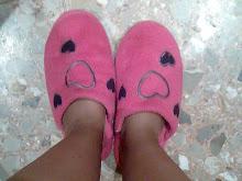 zapatillas rosa casa