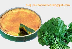 receta de cocina facil de tarta de espinaca