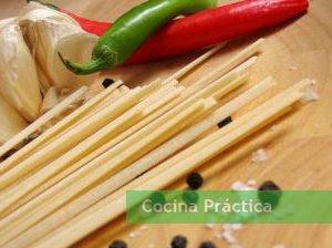 Ingredientes de la receta de Espagueti al ajo con anchoas.