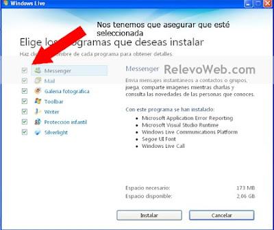 Paso principal para instalar el MSN en nuestra computadora luego de seguir los anteriores pasos.