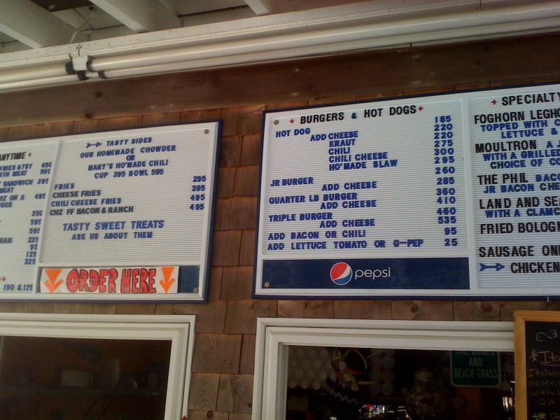 Tradewinds Cafe Menu