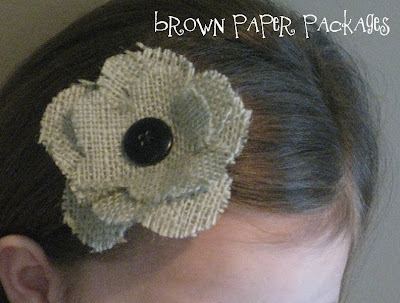 Brown paper packages january 2010 for Burlap flower template