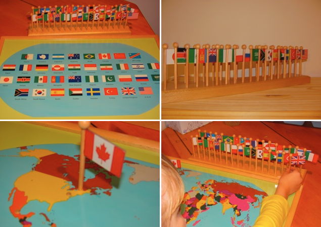 Perrytech montessori 100 giveaway closed mommy moment this full color world map with beechwood frame is complete with flags of 36 different nations in a separate stand each country has a peg hole for insertion gumiabroncs Gallery