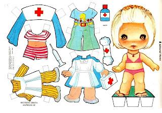 Enfermeira - Brinquedo de Papel