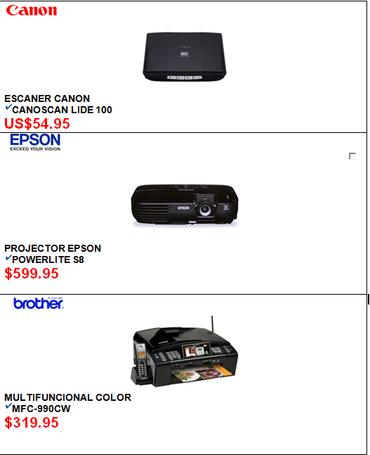 And output devices list of prices of input and output devices