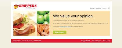 ShoppersListens.com, SHOPPERS Food & Pharmacy Survey Sweepstakes