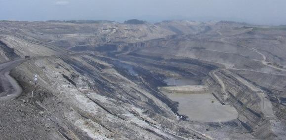 Tambang Batubara di Kalimantan Selatan, Indonesia