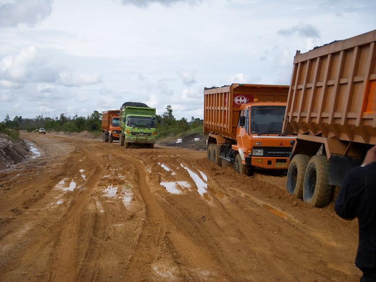 Uji Coba Jalan Tambang Bartim Kalteng