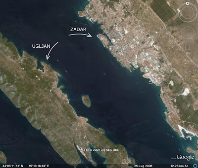 Ugliano e Zara (Croazia) su Google Earth