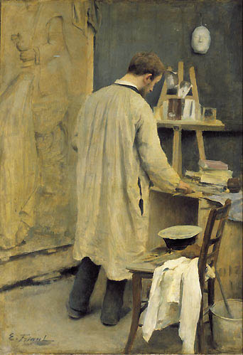 Bearded blokes of the belle epoque emile friant 1863 1932 for Interieur french