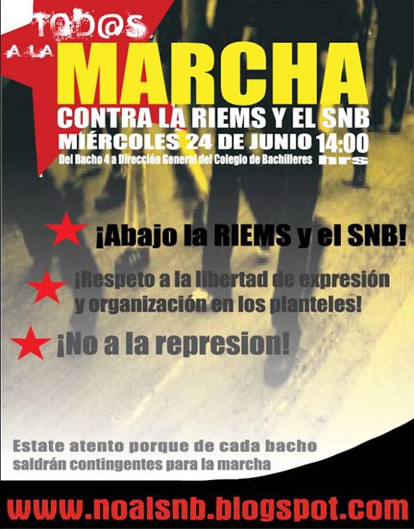 Los bachilleres dicen ¡NO! a las (contra) reformas educativas. TOD@S A LA MARCHA ESTE 24 DE JUNIO.