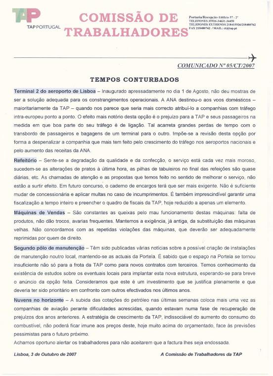 Comunicado 05/2007