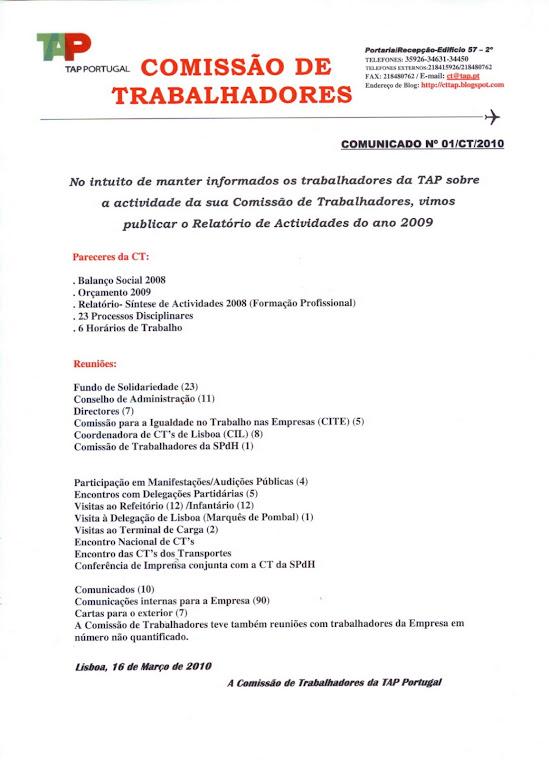 Comunicado 01/2010