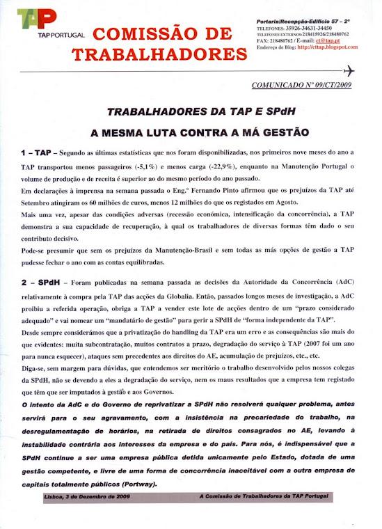 Comunicado 09/2009