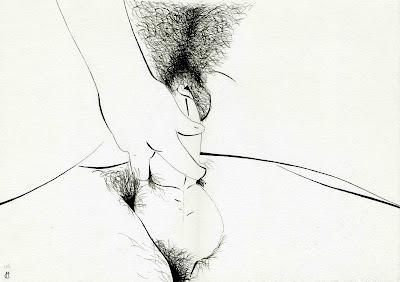 art pornographie sexe encre chine