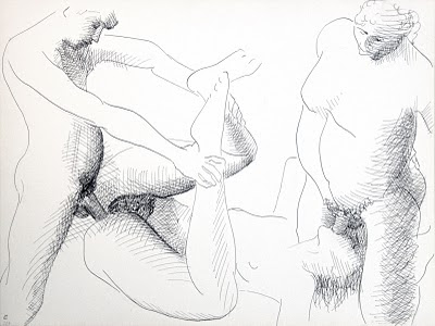 dessin erotique pornographique triolisme
