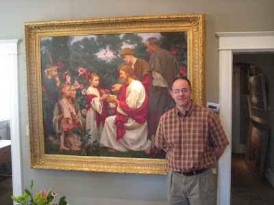 Artist Michael Malm at the Authentique Gallery