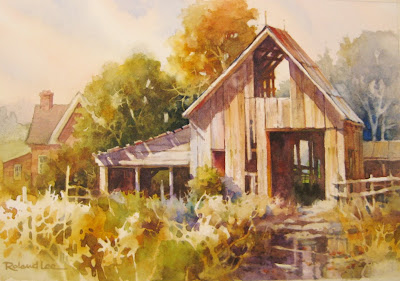 Barn demonstration for the Sevier Valley artists group at the Elsinore Art Center in Utah