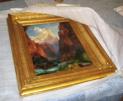 Thomas Moran painting 1917 The rio Virgin Southern Utah