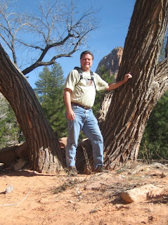 Roland Lee on the Tayalor Creek Trail in Zion National Park