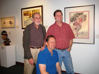 Gene Butera, Matt Clark, and Roland Lee at the St. George Art Museum
