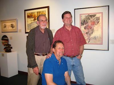 Gene Butera, Matt Clark, and Roland Lee at the St. George Art Museum