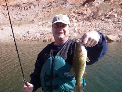 Roland Lee bass fishing on Lake Powell
