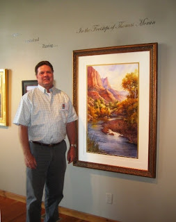 Roland Lee painting of Zion at the Bingham Gallery
