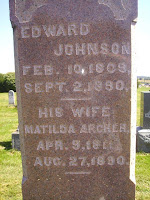 Edward and Matilda Johnson Headstone
