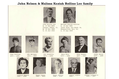 John Nelson Lee family with photos of children