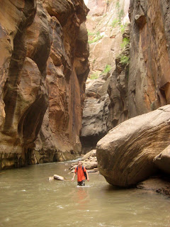 HIking in Zion Narrows Zion National Park