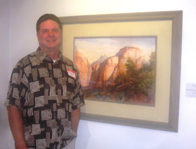 Roland Lee painting of the Sentinel at Zion National Park