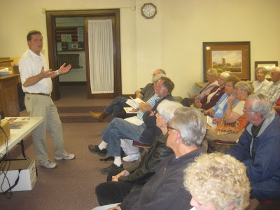 Roland Lee gives an art lecture in Richfield Utah sponsored by Artworks of Sevier and the Staples Art Gallery