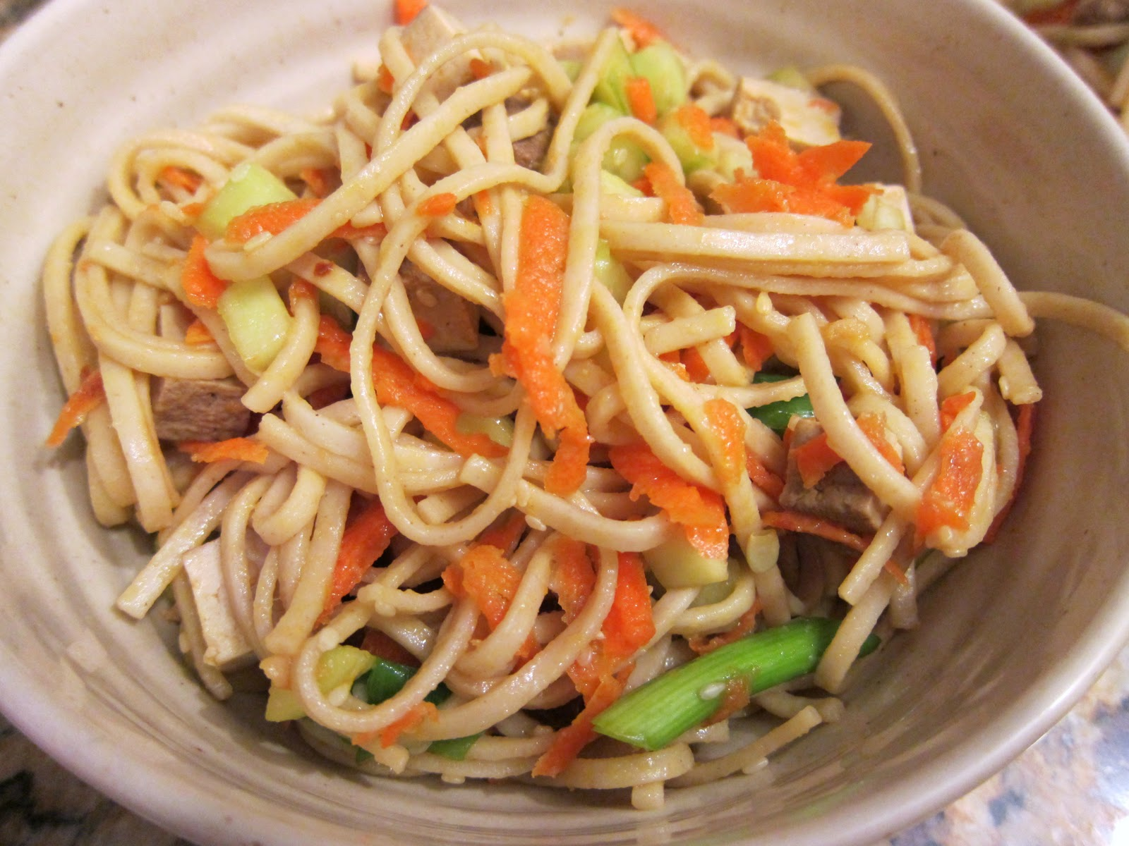 Everyday Vegan: Udon Noodles with Sesame and Tofu