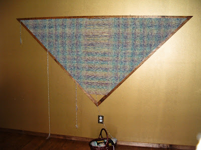 Weaving the Rainbow Plaid Shawl