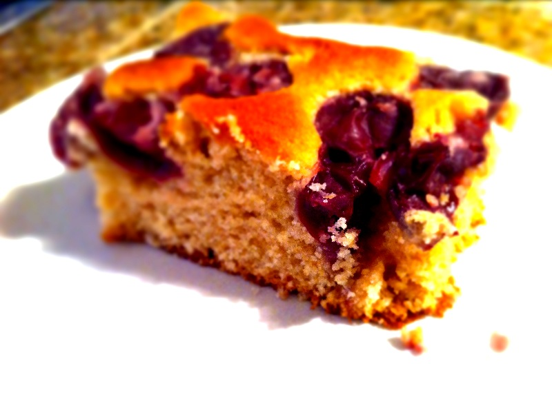 Hungarian Sour Cherry Cake Recipe — Dishmaps