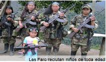 Las Farc tienen más de 2 mil niños en sus filas