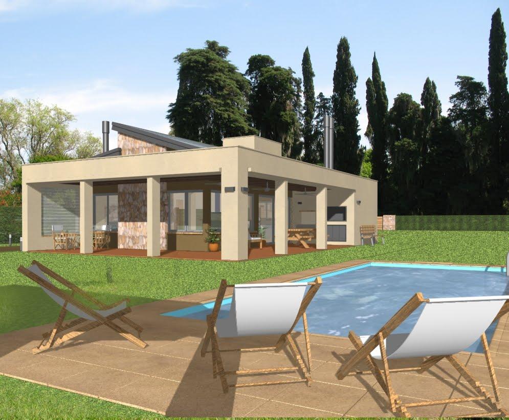 Gkq arquitectura casa en oliveros - Casas para fines de semana ...