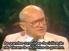 Milton Friedman em poucos minutos que valem milhares de aulas