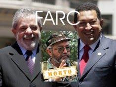 """Hugo Chávez e Raúl Reyes (FARC): """"conhecemos LULA no Foro de São Paulo"""""""