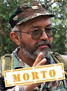Raúl Reyes, número 2 das FARC (abaixo) na FOLHA DE SÃO PAULO