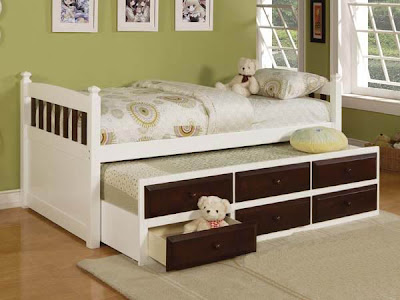 Espresso white twin full captains bed trundle drawers - White twin captains bed with drawers ...