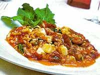 Risoto de Tomate Seco, Rúcula e Mussarela (Lacto)