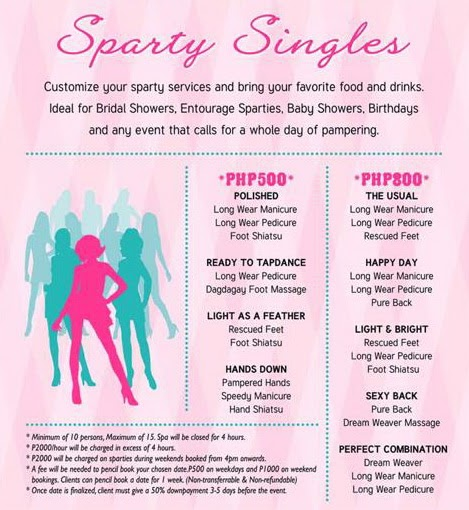 Bridal Spa Party Packages Manila