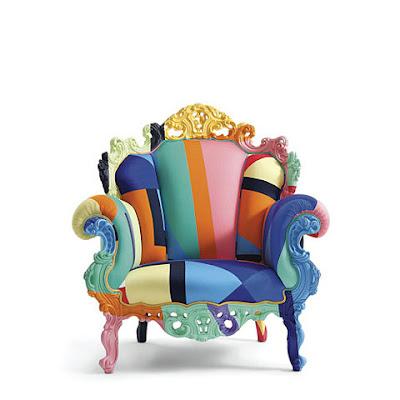 Trecool, Proust Geometrica, Alessandro Mendini, Cappellini, sillón clásico multicolor