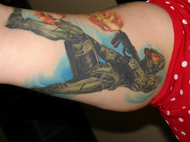 master chief tattoo