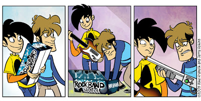nirvana rock band cartoon