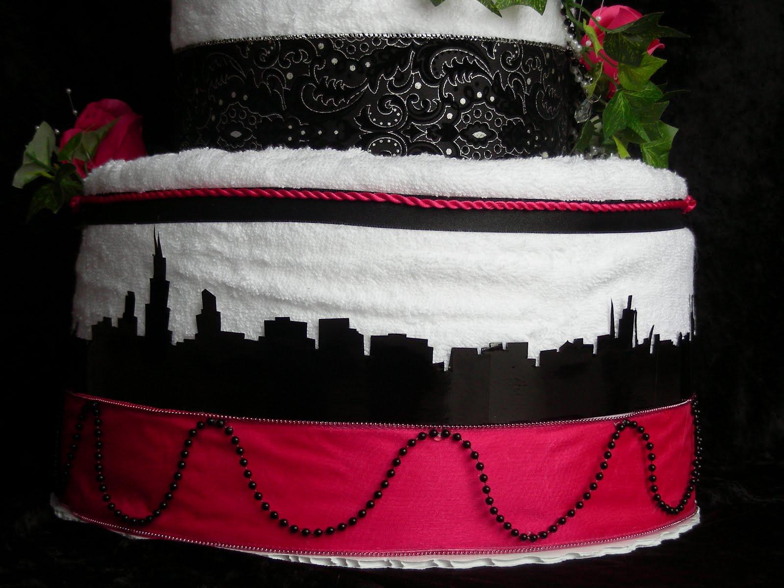 Paizley Petals: Chicago Skyline Wedding Towel Cake