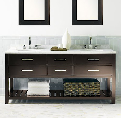 Harmony and home how i would design my dream beach house Double sink washstand
